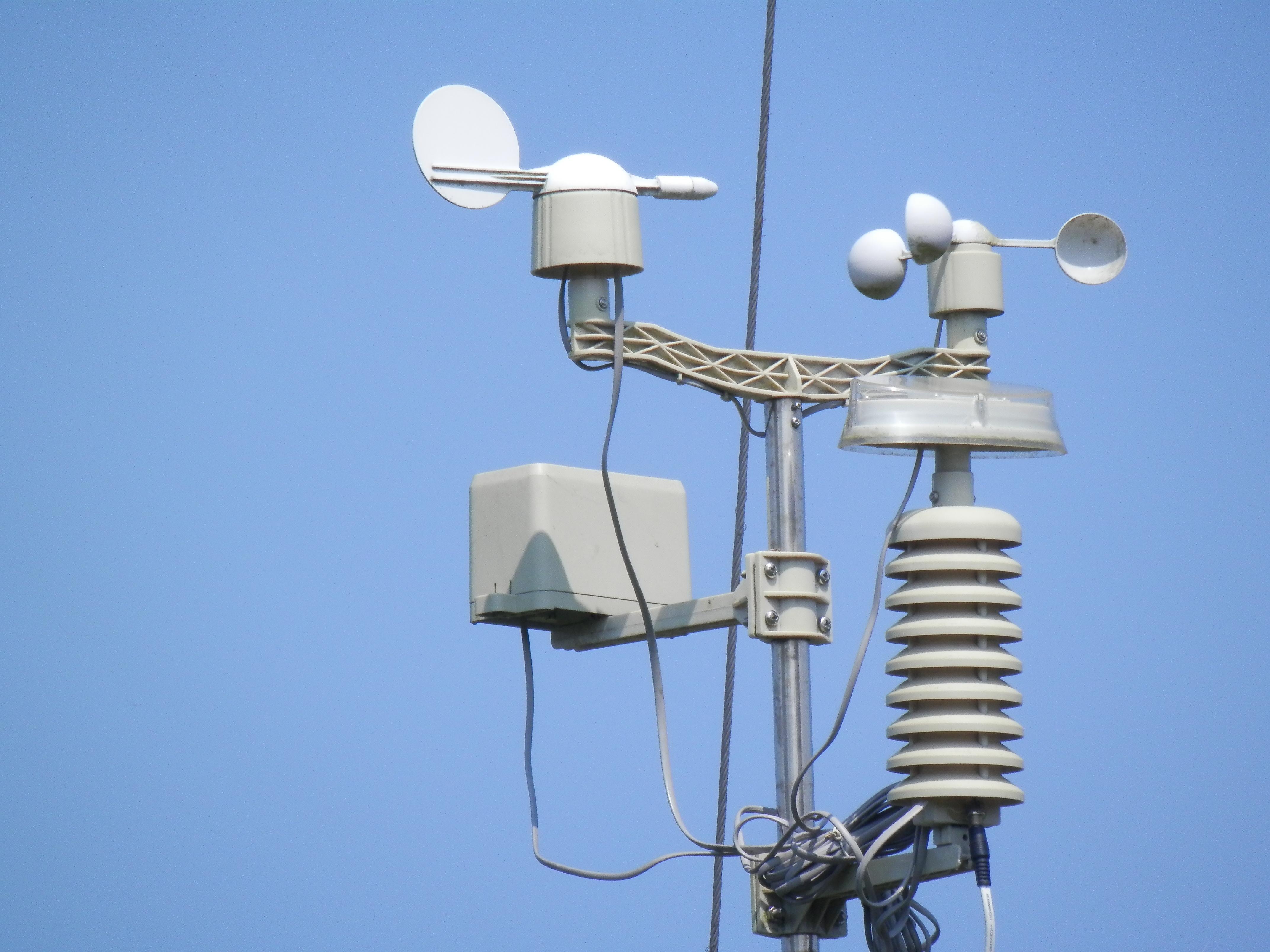 Sensor der Wetterstation aus der Nähe