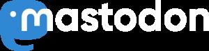 Logo mit Schriftzug Mastodon