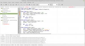 Alle Dateien eines Django-Projektes im Geany-Editor
